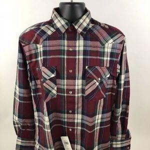 NEW Pendleton Multicolor pear snap shirt men M D49